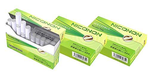 NICONON ニコノン 禁煙後の新しいカタチ。アイコス互換機 次世代ニコチン0mg加熱式スティック (アイスシトラス, 3箱セット(1箱20本入り))