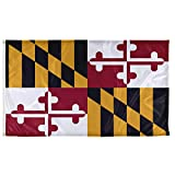 Vispronet - Maryland State Flag - 3ft x 5ft Knitted Polyester, State Flag Collection, Made in the USA (Flag Only)