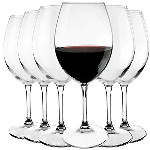 Bormioli Rocco - Hochwertige Rotweingläser aus Kristallglas - 6-teiliges Set - Weinglas - Rotweinkelch - Füllmenge: 560ml - höhe 24,5 cm - elegant und bruchbeständig - Spülmaschinenfest