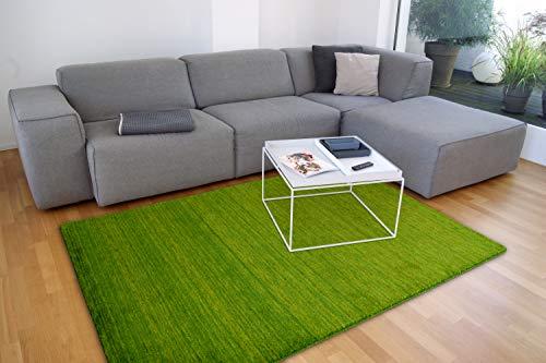 floor factory Gabbeh Teppich Karma grün 120x170 cm - handgefertigt aus 100% Schurwolle