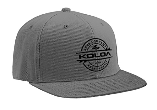 Koloa Surf(tm) Thruster Logo Solid Snap-Back Hat Grey/w