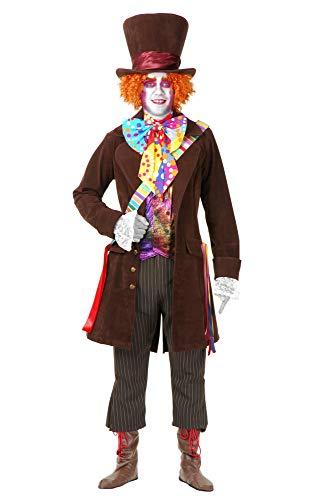 Charades Herren Mad Hatter Jacket and Pants Kostüme für Erwachsene, Siehe Abbildung, X-Small