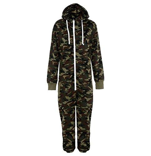Fury Collection Combinaison zippée à capuche Adulte - - Vert camouflage - Small