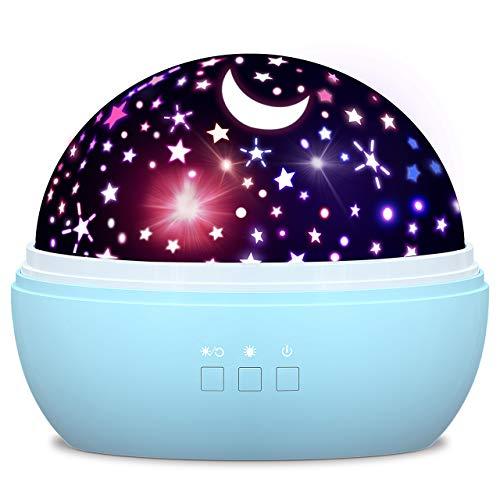 dmazing Weihnachtsdeko, Spielzeug ab 2-10 Jahren für Jungen Nachtlicht Baby Spielzeug für Jungen Kinderspielzeug ab 2-10 Jahren Jungen Weihnachts Geschenke für Jungs 3-10 Jahre Blau
