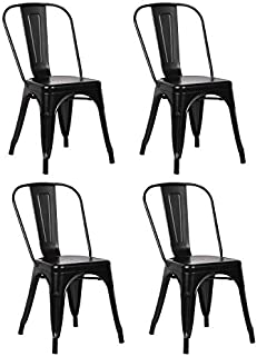 Metal Indoor-Outdoor Chairs Distressed Style Kitchen...