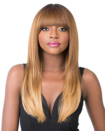 It's a Wig Iron Friendly, Bang Wigs With Short Center Part - SHERRY (613)