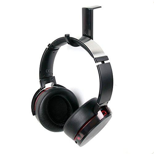 DURAGADGET Soporte/Gancho para Auriculares Sony inalámbricos SBH54/Walkman WH Series NWZ-WH505 con Adhesivo fijador. Color Negro