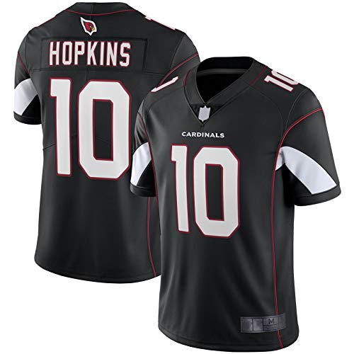 XIANER Herren DeAndre American Football Jersey Hopkins Rugby Jersey Arizona Sweatshirt Cardinals Custom #10 Stickerei Limited Jersey M - Schwarz