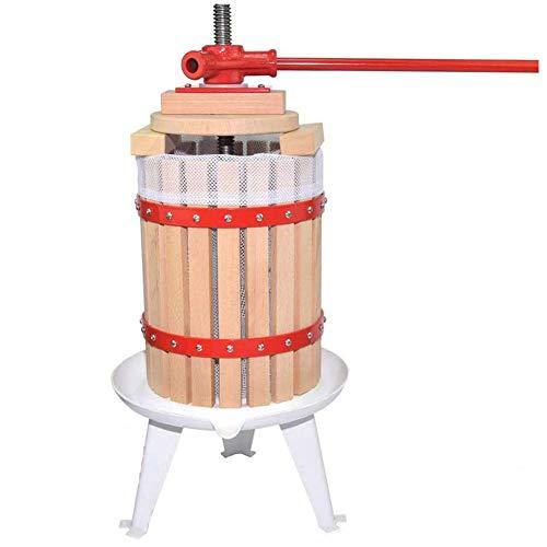 Obstpresse Apfelpresse Fruchtpresse der mit Hölzernem Korb für Selbst Gemachten Natürlichen Saft, Traube, Beere, Apfel, Fruchtpresse Weinpresse inklusive Kostenlos Pressnetz (18L)