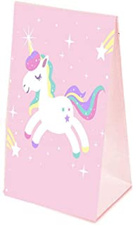 24pcs /Set Unicorn Paper Bag Unicorn Party Birthday Party Decorations Kids Pink Unicorn Gift Bag Wedding Favors And Gifts
