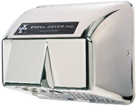 product image for Excel Dryer HO-ICV Hand Dryer Hands Off, Automatic, Cast Cover, Surface-Mounted, Chrome Plated, 208-230V 60Hz