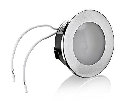 2er Set Flache Möbelleuchte Unterbauleuchte Einbaustrahler Einbauleuchte Küchenleuchte Einbauspot 12V flach geeignet für G4 LED/Halogen Lampe Leuchtmittel 12V AC/DC max. 20W