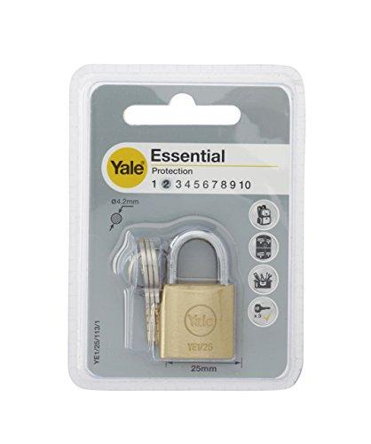 Yale YE1/25/113/1/B Candado de Seguridad de Arco Corto, 25 mm