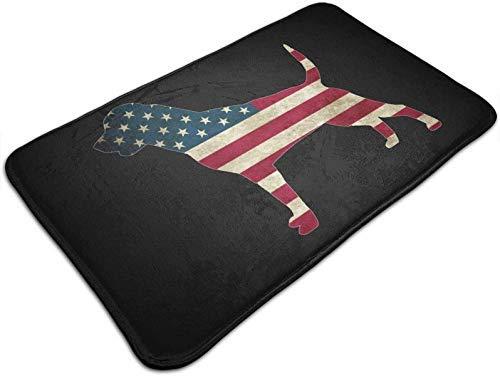 NA Amerikanische Flagge Rottweiler H& Türmatte rutschfeste Badematte Badezimmer Küche Boden Teppichmatte