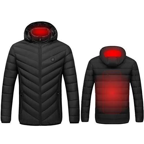 Chaqueta térmica, USB, ligera, eléctrica, térmica, con capucha Esquí al aire libre,...