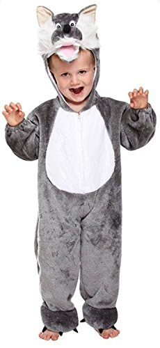TODDLER ANIMAL COSTUME - WOLF - TODDLER (3 YEARS) also code U88246