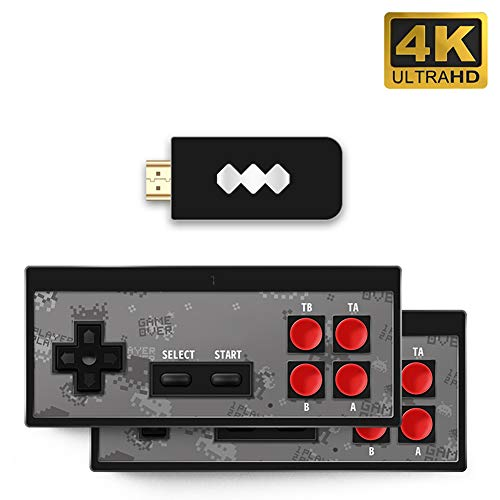 Renoble Retro Spielekonsole, 4K HDMI Videospielkonsole Eingebaut in 568 Classic Games Mini Retro Konsole Wireless Controller HDMI Ausgang Dual Player Klassisches Familienspiel Konsolen Brilliant (#1)