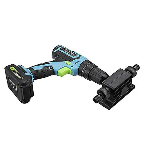 Giftprod Portable Pump Mini Electric Drill Drives Large Flow Pump Electric Drill Powered Water Pump Used for Home, Outdoor Garden, 8mm Round Shank, Portable, Convenient Installation
