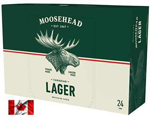 Moosehead Lager Bier 24er Pack (24x355 ml) Dosen - original kanadisches Bier, auch als perfektes Bier Geschenk für Männer (inkl. 6,00 € Pfand) …