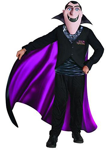 Ciao- Hotel Transylvania Costume Conte Drac con Maschera per Bambini, Nero, 8-10 anni, 11154.8-10