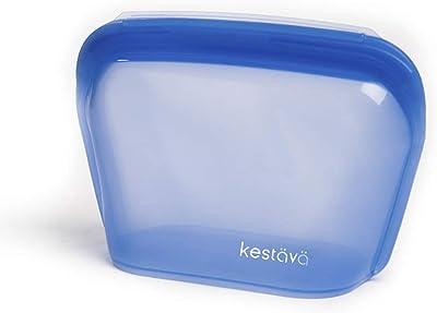 Bolsa de silicón reutilizable para Alimentos Mediana Sellado Hermético Antiderrames y libre de BPA (Navy)