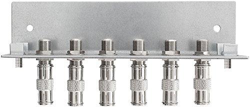 Axing QEW 6-12 Erdungswinkel (6-fach einreihig) mit F-Schnellsteckern für Multischalter SPU 5512-09, 910-09, 9912-09