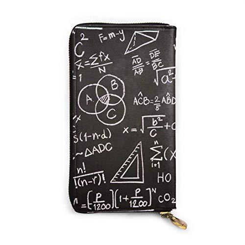 shenguang Formules et calculs scientifiques Organisateur d embrayage de Portefeuille Portable en Cuir véritable de Cire de Luxe pour Femmes de Grande capacité