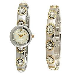Two Tone Swarovski Crystal Petite Watch & Matching Bracelet Gift Set