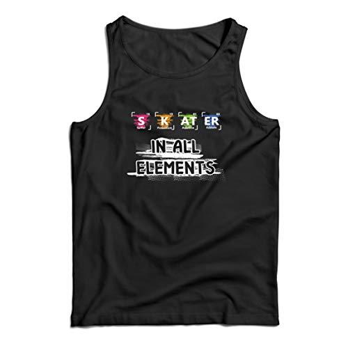 lepni.me Camisetas de Tirantes para Hombre Patinador en Todos los Elementos Qumica Peridica de Mesa Deporte (Small Negro Multicolor)