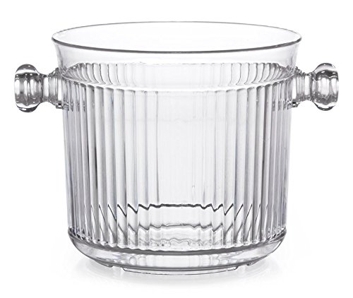 G.E.T. Enterprises Clear 2.5 qt. Ice Bucket, Break Resistant Dishwasher Safe Polycarbonate Specialty Drinkware Collection HI-2015-CL (Pack of 1)
