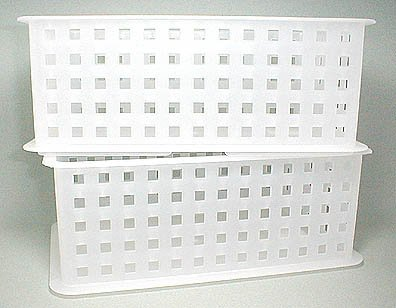 iDesign Modulon Plastic Storage Organizer Basket for Bathroom, Health, Cosmetics, Hair Supplies, and Beauty Products, 5' x 8.75' x 6' - Frost White