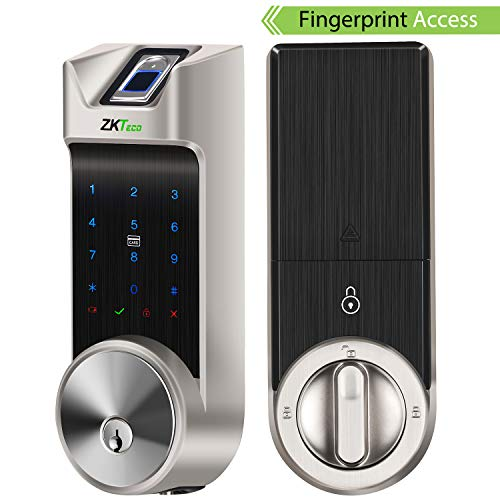 ZKTeco Smart Lock, Fingerprint Door Lock, Bluetooth Enabled | Keyless Entry | Access Cards | Touchscreen Keypad, Deadbolt Door Lock AL40B