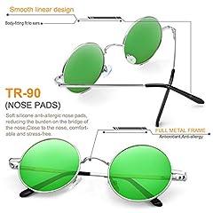 FEIDU Polarised Vintage Sunglasses man - Retro Round Sunglasses Unsiex FD3013 #3