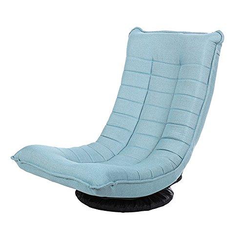 Xiaolin Fauteuil Rotatif inclinable de Chambre à Coucher inclinable de Sofa de Chaise de Balcon (Couleur : Lake Blue)