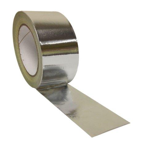 48mm x 45m forte nastro autoadesivo foglio di alluminio isolamento termico Silver Duct ad alta temperatura, argento
