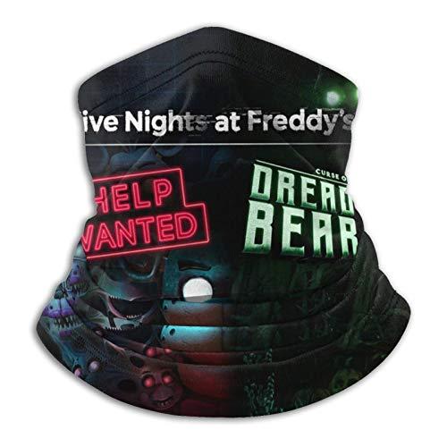 Five Nights at Fre-ddys Help Wanted Unisex Microfiber Neck Warmer Neck Gaiter Face Mask Bandana Balaclava