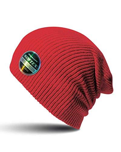 Zac Efron Beanie Mütze Becks Fashion Wear Cool Red Cap Beenie Beeny Strickwolle...