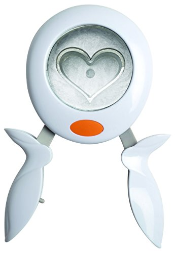 Fiskars Motiv-Stanzzange, Herz, Ø 3,8 cm, Für Links- und Rechtshänder, Qualitäts-Stahl/Kunststoff, Weiß/Orange, L, 1004740