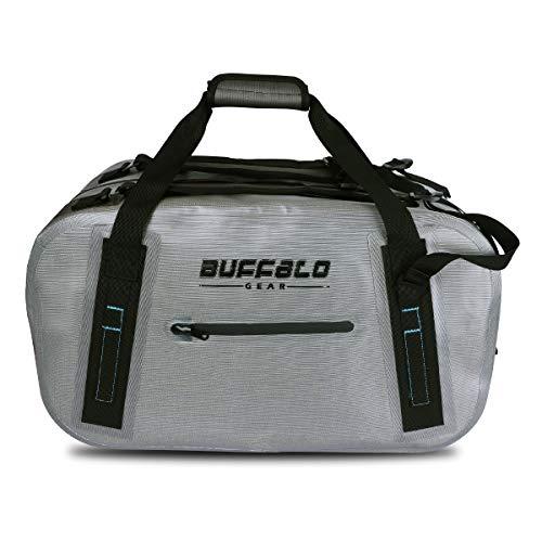 Buffalo Gear Waterproof Duffel Bag 50L Large Grey 840D TPU Dry Bag Dry Bag
