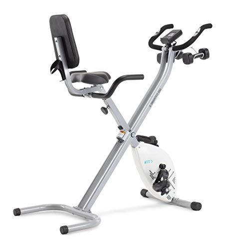 Cadence E-Smartfit 250 - Bicicleta estática plegable unisex, incluye 1 año de iFIT, color blanco y plateado
