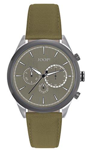 Orologio Uomo Quarzo Joop! display Cronografo cinturino Pelle Verde e quadrante Grigio JP101931004