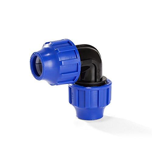 H2O-Flex PP-Fitting, Klemmverbinder - Winkel 90° für PE-Rohr, 20 mm, DVGW