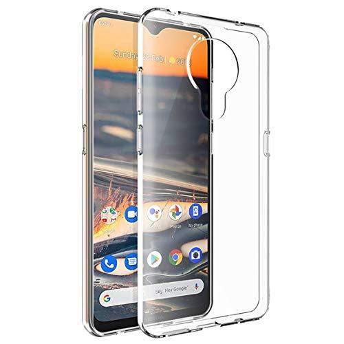 QULLOO Hülle für Nokia 5.3, Transparent TPU Hülle Schutzhülle Crystal Hülle Durchsichtig Klar Silikon Cover für Nokia 5.3