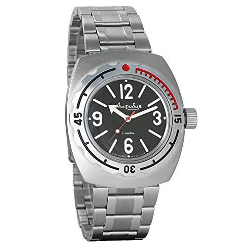 Vostok Amphibian 090913 - Reloj de pulsera para buceadores militares rusos 2416B/2415, 200 m automático
