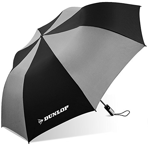 Dunlop Folding Two-Person Umbrella-56-dl Blkgry, Black/Gray
