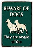 犬に気をつけて、彼らはあなたのブリキマーク金属アンティークバーブリキマーク壁装飾バーファミリーレストランカフェオフィスプレゼントレトロなポスタープレートを知っています