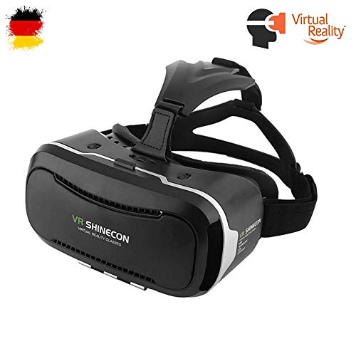 VR Virtual Reality 3D Brille, Universal kompatibel mit Allen Smartphones in der Größe 4-6 Zoll z.B. Samsung, iPhone,Google,Huawei usw