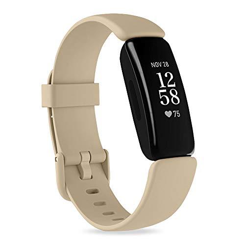 Onedream Compatible para Fitbit Inspire 2 Correa, Suave Silicona Deportivo Repuesto Bandas, Ajustable Pulsera Accesorios para Mujeres y Hombres, Pequeño Grande(Sin Reloj)