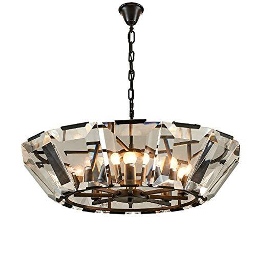 Zauberhaftes Kristall Pendelleuchte Modernen Elegantem Einmaliges Stilvoller K9 Klar Glasanhänger 8-Flammig E14 Einbauleuchten Höhenverstellbar Esszimmer Schlafzimmer Wohnzimmer Innenbeleuchtung