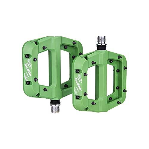 LIANYG Pedali Bici Cuscinetti Nylon Ultralight Pedal Pedal Mountain Road Bike BMX Anti-Slip Big Foot Pedali in plastica per Biciclette 442 (Color : Green)